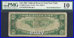 $10 1928 Frn=inverted Back On A Numeral Seal=2=pcgs Very Good 10