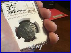 1788 New Jersey Copper M 50f Very Good detail