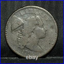 1794 Large Cent Vg Very Good 1c Flowing Hair L@@k Now Details G22 Trusted