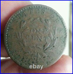 1794 us flowing hair liberty cap large cent s-56 office boy vg+ very good + r-3