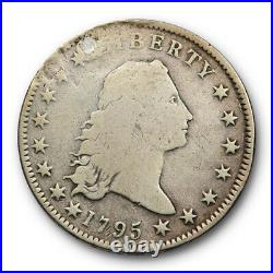 1795 $1 Flowing Hair Dollar Good to Very Good Details Repaired Early US Type