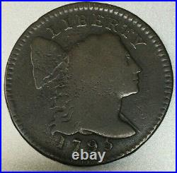 1795 Flowing Hair Large Cent, Very Good, S-75 R-3, Scarce