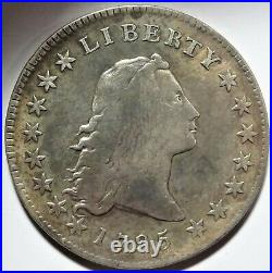 1795 Flowing Hair Silver Dollar Very Good VG+ 2 Leaves B-13 BB-24 $1 Type Coin