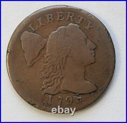 1795 Liberty Cap Large Cent Plain Edge Very Good Details