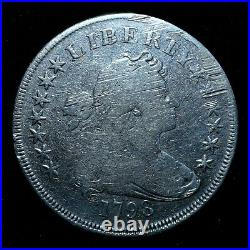 1798 $1 Draped Bust Silver Dollar Vg Very Good Details L@@k Now Trusted