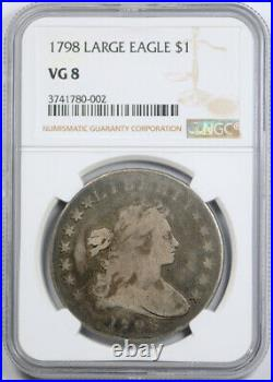 1798 $1 Large Eagle Draped Bust Dollar NGC VG 8 Very Good Early American Coin