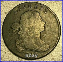 1798 Draped Bust Large Cent S-176 Very Good/Fine, R-4