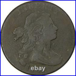 1801 3 Errors Variety Draped Bust Large Cent VG Very Good Copper Penny 1c Coin