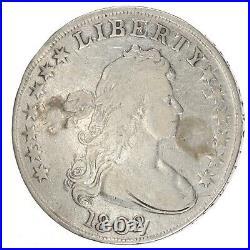 1802 Draped Bust Silver Dollar Heraldic Eagle VG/F Very Good/Fine AC386