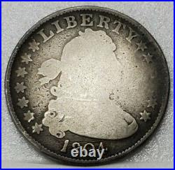 1804 Draped Bust Quarter Nearly Good Details Very Scarce & Problem Free Coin