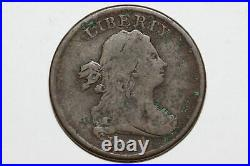 1804-P Draped Bust Half Cent Coin Cr. 4 with Stems Grades Very Good (HLC246)