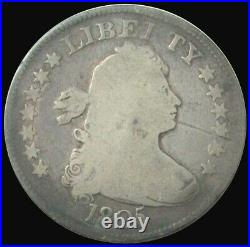 1805 Silver United States Draped Bust Quarter Dollar Type Coin Very Good