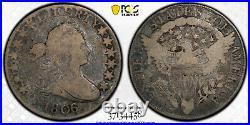 1806/5 VG10 O-103 Large Stars Draped Bust Half Dollar 50c, PCGS Graded Very Good
