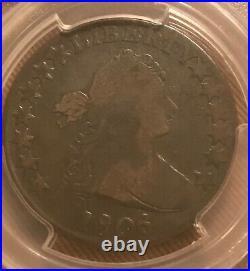 1806/5 draped bust 50c, Very good Pcgs Vg08