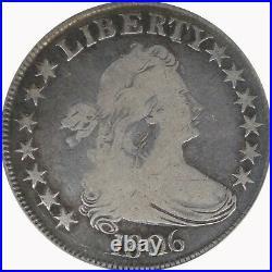 1806 ANACS 50C Draped Bust Half Dollar Very Good VG8 O-116