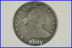1806 Draped Bust Half Dollar, Knob 6, O-107a, R5, Choice Very Good