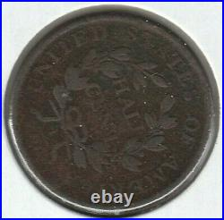 1806 Large 6 Stems Very Good VG Draped Bust US Half Cent 1/2C
