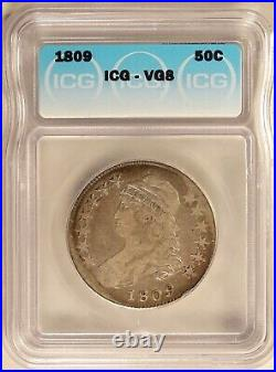 1809 Bust Half Dollar Silver 50C Circulated ICG VG8 Very Good