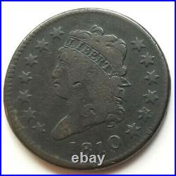 1810 Classic Head Large Cent S-285 R-2 Beautiful Very Good Nice Coin
