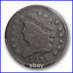 1811 1/2C Classic Head Half Cent PCGS G 6 Good to Very Good Key Date