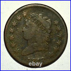 1812 Classic Head Large Cent Vg Very Good Details 1c L@@k Now Trusted