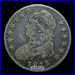 1814/3 Capped Bust Half Dollar Vg Very Good 50c Overdate L@@k Now Trusted
