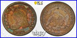 1822 10C Capped Bust Dime PCGS VG 10 Very Good to Fine Colorful Toned Key Dat