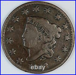 1824/2 United States Coronet Head One Large Cent / Penny VG+ Very Good Plus