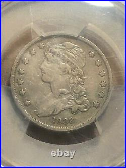 1838 CAPPED BUST SILVER QUARTER PCGS VF35! Very Rare 25c! Good Eye appeal! Toned