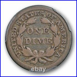 1844 10C Seated Liberty Dime PCGS VG 10 Very Good to Fine Key Date