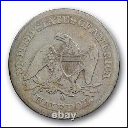 1852 O 50C Seated Liberty Half Dollar PCGS VG 8 Very Good Key Date Tough Coin