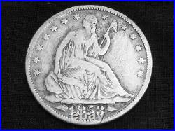 1853 Seated Liberty Half Dollar Dollar with Arrows and Rays - Very Good