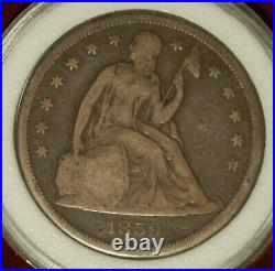 1859-O Seated Liberty Dollar. Nice, Very Good