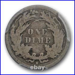 1863 S 10C Seated Liberty Dime PCGS VG 10 Very Good to Fine Key Date
