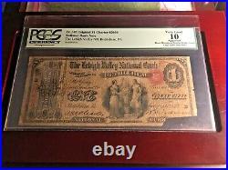 1865 us paper money $1 Fr#382 PCGS 10 Very Good