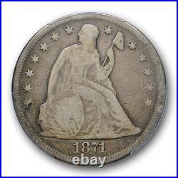 1871 $1 Seated Liberty Dollar PCGS G 6 Good to Very Good Original Toned