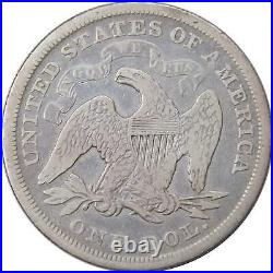 1872 Seated Liberty Dollar VG Very Good 90% Silver $1 US Type Coin Collectible