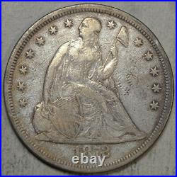 1872 Seated Liberty Dollar, Very Good to Fine, Nice Circulated Type Coin 0619-16
