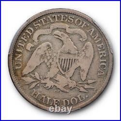 1873 CC 50C Seated Liberty Half Dollar PCGS VG 8 Very Good Carson City Mint