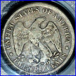 1875-cc 20 Cent Piece Pcgs Vg-10 20c Silver Very Good Liberty Trusted