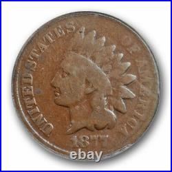 1877 1C Indian Head Cent ANACS G 6 Good to Very Good Key Date
