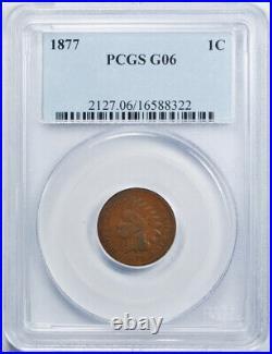 1877 1C Indian Head Cent PCGS G 6 Good to Very Good Key Date Original