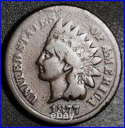1877 Indian Head Cent Vg Very Good Key To The Set