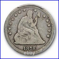 1878 S 25C Seated Liberty Quarter PCGS G 6 Good to Very Good Key Date Tough