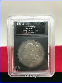 1878-cc U. S. Morgan Silver Dollar Authenticated'very Good