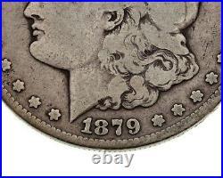 1879-CC $1 Silver Morgan Dollar in Very Good Condition, Full Strong Rims