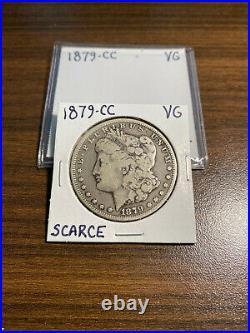 1879-CC Morgan Silver Dollar $1 VERY GOOD (VG) RARE KEY DATE