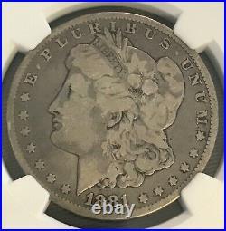 1881-cc Morgan silver dollar Very good, NGC VG