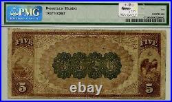 1882 Brown Back $5 Note Aberdeen, South Dakota PMG 10 Very Good