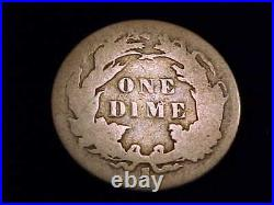 1885-S Seated Liberty Dime, Very Good Grade. A Scarce San Francisco Mint Issue